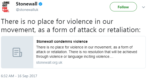 Stonewall UK and Capitalizing on LGBTQ Oppression